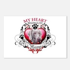 My Heart Belongs to a Weimer Postcards (Package of