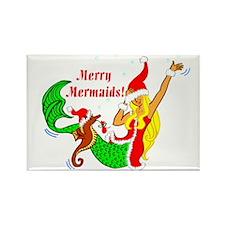 Merry Mermaid Rectangle Magnet