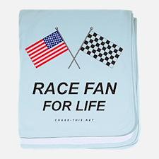 Race Fan For Life baby blanket