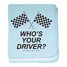 Checker Flag Driver baby blanket