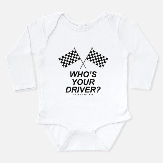 Checker Flag Driver Long Sleeve Infant Bodysuit
