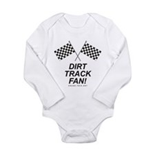 Checker Flag Dirt Long Sleeve Infant Bodysuit
