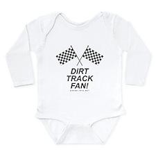 Checker Flag Dirt Long Sleeve Infant Bodysuit