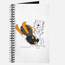 Snowmobile Cat Orange Journal