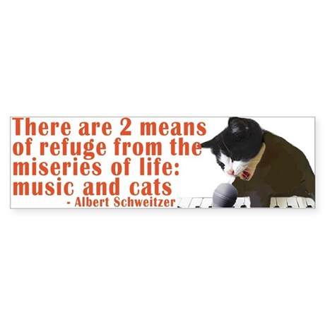 Cats and Music Sticker (Bumper)