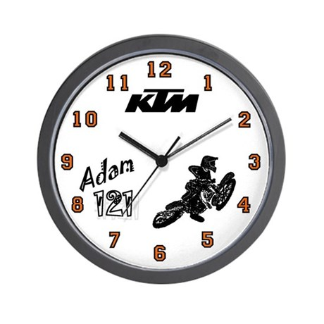 Adam's Motocross Wall Clock