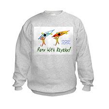 Runs with Kayaks Sweatshirt