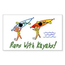 Runs with Kayaks Decal
