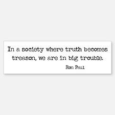 Truth is Treason Sticker (Bumper)