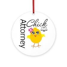 Attorney Chick Ornament (Round)