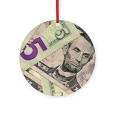 Cute Cash Ornament (Round)
