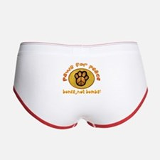 Paws for Peace Women's Boy Brief