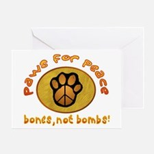 Paws for Peace Greeting Card