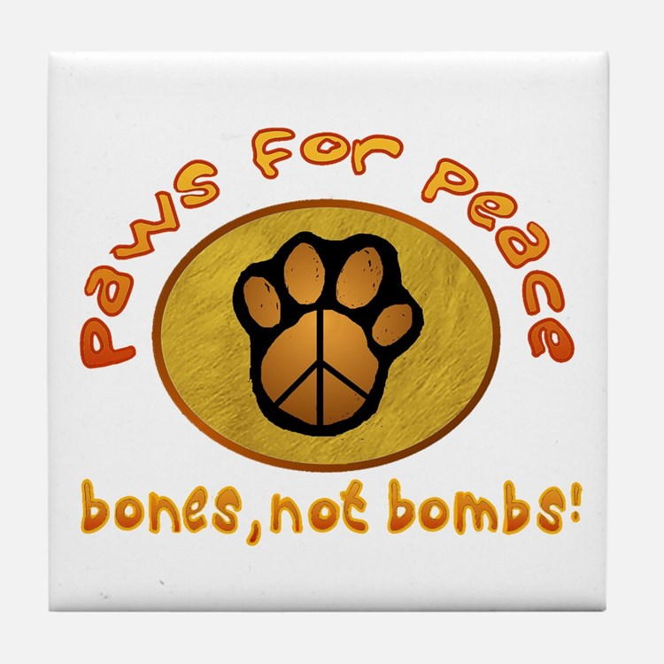 Paws for Peace Tile Coaster