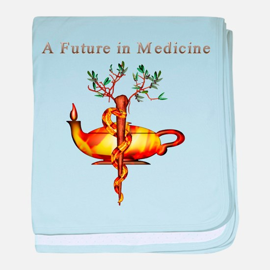 Future in Medicine baby blanket