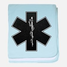 Star of Life(BW) baby blanket