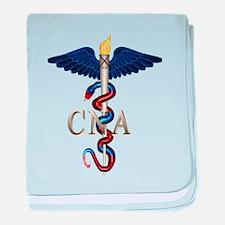 CNA Caduceus baby blanket