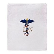 LPN Caduceus Throw Blanket