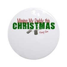 Missing my Daddy Navy Son Ornament (Round)