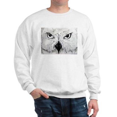 Owl, Black & White, Sweatshirt