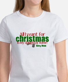 All I want Daughter Navy Mom Tee