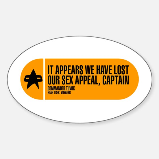 Lost Our Sex Appeal Sticker (Oval)