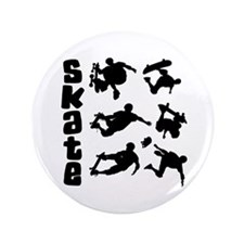 "Skateboarding 3.5"" Button"