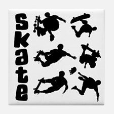 Skateboarding Tile Coaster