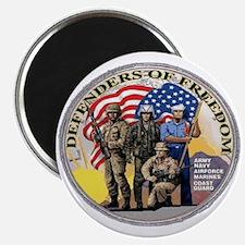 """FREEDOM DEFENDERS 2.25"""" Magnet (10 pack)"""