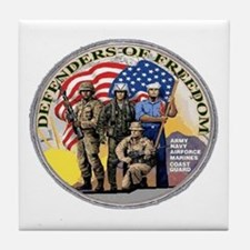 FREEDOM DEFENDERS Tile Coaster
