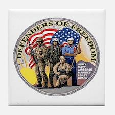 FREEDOM DEFENDERS Tile Coaster