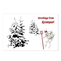Greetings From Krampus Postcards