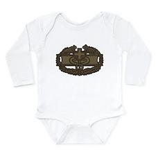 Combat Medic OD Long Sleeve Infant Bodysuit