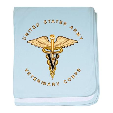 Army Veterinary baby blanket