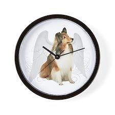 Sheltie Angel Wall Clock