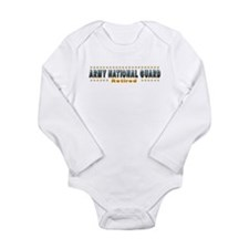 Army Guard Retired Long Sleeve Infant Bodysuit