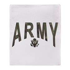Army & Eagle Throw Blanket