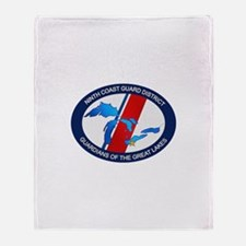 9th District USCG Throw Blanket