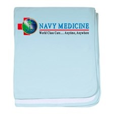 Navy Medicine baby blanket