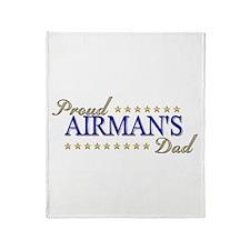 Airman's Dad Throw Blanket