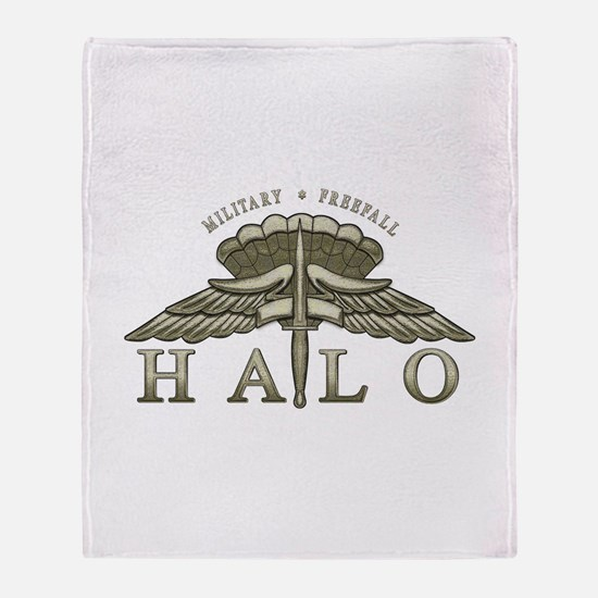 Halo Badge Throw Blanket
