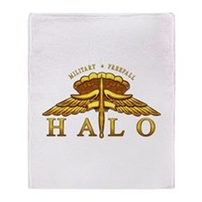 Golden Halo Badge Throw Blanket