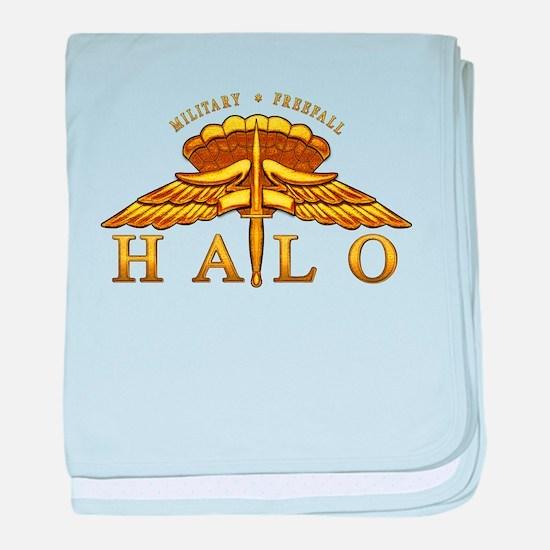 Golden Halo Badge baby blanket