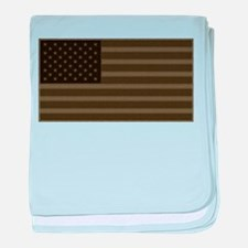 US Flag OD Patch baby blanket