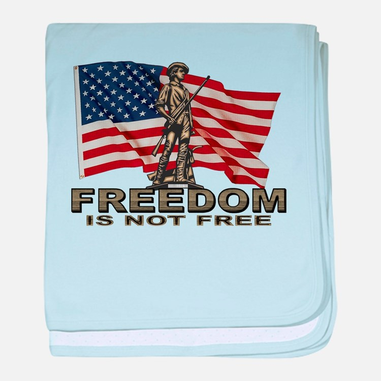 FREEDOM NOT FREE baby blanket