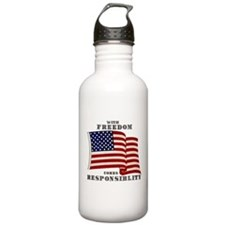 With Freedom(Flag) Water Bottle