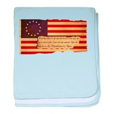 Old Glory baby blanket