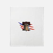 Liberty Bell Throw Blanket