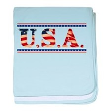 USA Stars/Strips baby blanket