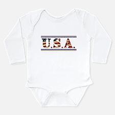 USA Stars/Strips Long Sleeve Infant Bodysuit